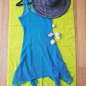 Must Have Aqua Blue Mesh Cover Up 👙